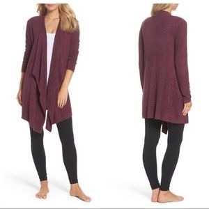 Barefoot Dreams Mulberry Cozychic Wrap Cardigan